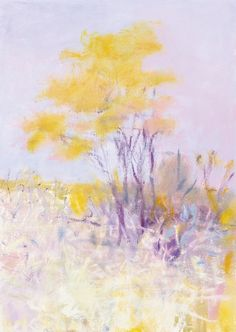 """""""Acacia,"""" Wolf Kahn, 2001. oil on canvas, 21 x 15"""", private collection."""