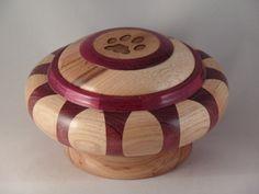 34334 Purple Heart  Hickory Pet Urn by MyInspirationsInWood