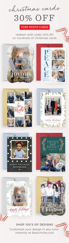 Last chance to order your holiday cards for the 2017 Christmas season. Get 30% off with code HOLI30. Happy holidays!