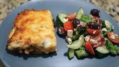 Moussaka & Greek Salad for a little taste of Greece! Live. Laugh. Cook. - Love Deliciously