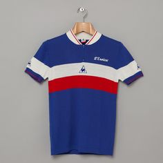 Le Coq Sportif Eroica Racers Zipped Polo in Cobalt / £80