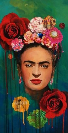 Frida Kahlo Artwork, Kahlo Paintings, Frida Art, Frida Kahlo Party Decoration, Fridah Kahlo, Paisley Art, Arte Pop, Mexican Art, Art Portfolio