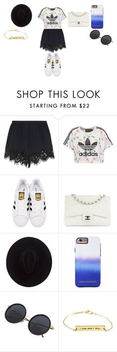 """""""Girl outfit"""" by fluffiestcomplicatedness on Polyvore featuring Chloé, adidas Originals, Chanel, Brixton and Rebecca Minkoff"""