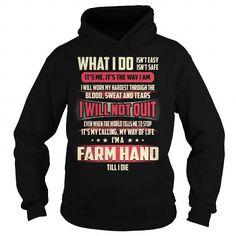 Farm Hand Job Title T Shirts, Hoodies. Check price ==► https://www.sunfrog.com/Jobs/Farm-Hand-Job-Title-T-Shirt-Black-Hoodie.html?41382