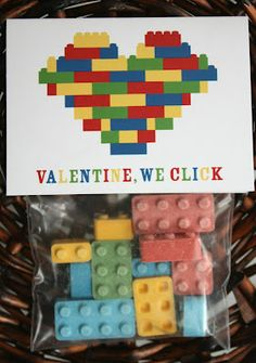 LEGO Valentine with Blox Candy