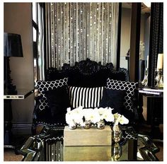 Loving the black, white, and glitter - a perfect match!