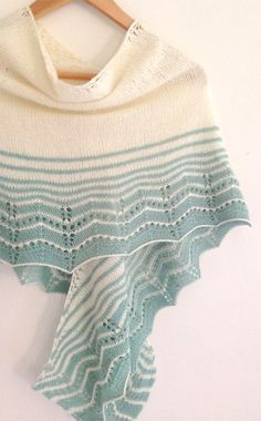 Ravelry: Marcelle Wrap pattern by Little Church Knits. I love the transitioning lines of colour, such subtle beauty Knitting Patterns Free, Knit Patterns, Free Knitting, Ravelry, Knit Or Crochet, Crochet Shawl, Wrap Pattern, Knit Wrap, Knitting Accessories