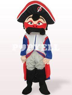 #mascotte #pirate Costume Mascotte Pirate Avec Visage Rouge en Peluche
