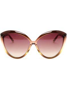 Linda Farrow Luxe Oversized Cat-eye Acetate Sunglasses