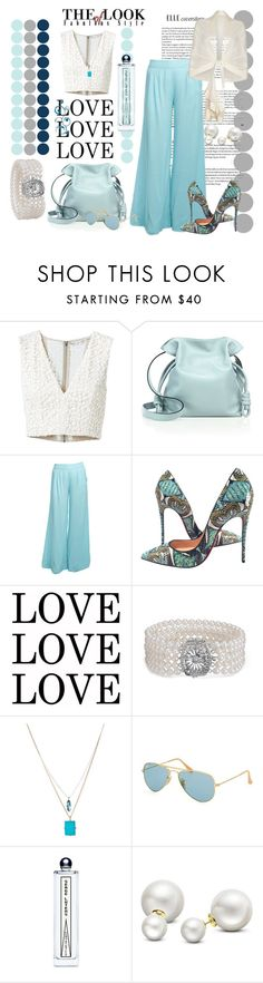 """""""Untitled #917"""" by talatay ❤ liked on Polyvore featuring Alice + Olivia, Loewe, Stylista Original, Christian Louboutin, Blue Nile, Kenneth Cole, Ray-Ban, Allurez and Ghost"""