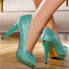 Escarpins femme Vert taille 38, achat en ligne Escarpins femme sur MODATOI