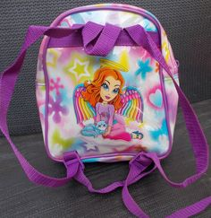 fcf5152d5676 Lisa Frank Angel Girl Kitty Backpack Clear Print Vinyl Adjustable Straps 8