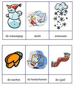 Woordkaarten winter Winter kleuters | Thema, Lesidee Juf Anke