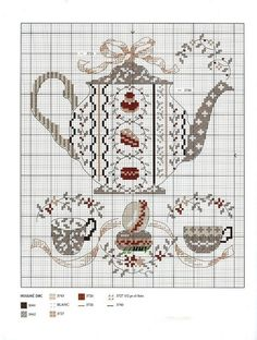 pinterest counted cross stitch teapots | Found on repincatalogue.com