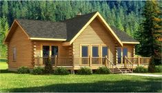The Wateree III is one of the many log home plans & log cabin plans from Southland Log Homes, nationwide provider of log cabin kits and log cabin homes. Log Cabin House Plans, Log Home Floor Plans, Log Cabin Kits, Small House Plans, Cabin Style Homes, Log Cabin Homes, Cabins, Architectural Design House Plans, Architecture Design