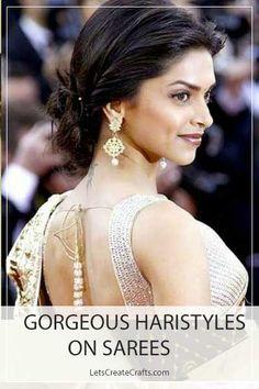 Saree hairstyles