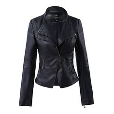 Womens Burgandy Khaki PU Faux Leather Zip Spiked Biker Jacket Size S M XL New