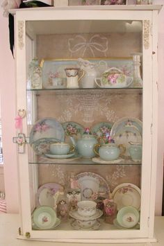 "happydayout: "" pink china cabinet """