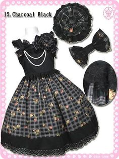 Sweet Antique Rose Chateau Jumper Charcoal BlackMagical Cat Hairband / See more at: http://www.cdjapan.co.jp/apparel/maxicimam.html #harajuku