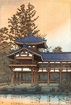 "Japanese Art Print ""Byodoin Temple in Uji-Renge near Kyoto"" by Kawase Hasui. Shin Hanga and Art Reproductions http://www.amazon.com/dp/B00Y2CISAQ/ref=cm_sw_r_pi_dp_0WQvwb1TPXRC3"