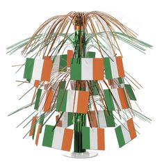 Irish Flag Cascade Centerpiece Irish (6ct)