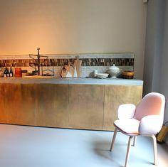 Kupfer und Messing für Wand und Accessoires : Küchenfronten im ...