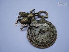 Wholesale Brass Watch Face with Bee Charm Steampunk, $0.44-0.52/Piece | DHgate