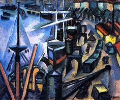 """""""Le Port de Bordeaux"""", 1912, André Lhote."""