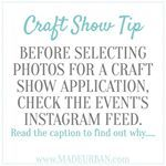 Just as you like your Instagram feed to have a certain look, so do craft shows, markets and events. They want to be able to share photos of their vendors' products and have them look great in their feeds. . . BONUS POINTS IF YOUR PHOTOS MATCH THE LOOK & FEEL OF THE EVENT'S INSTAGRAM FEED. . . Find the event's Instagram account and take note of: . . If they featured a certain type of product shot (i.e. clean and crisp flat lay shots or lifestyle photos. . If they feature a type of photo style…