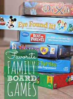 Looking for game for your 5-10 year old but want one that's fun for you too?  These are our favorite family games that involve logic, computer programming, hidden pictures and storytelling!  And... of course a little Disney thrown in :-)