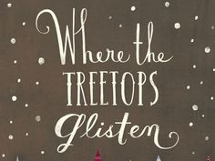 Dribbble - 'Where the Treetops Glisten' Holiday Greeting Card by Emily Dove Gross