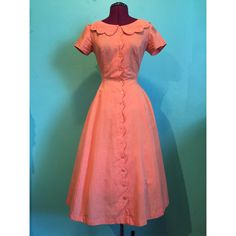 Vintage 1950s Creamsicle Dress with by StardustVintageRetro