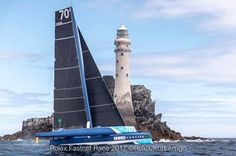Concise 10 rounding the Fastnet Rock. <br /> <br /> Tony Lawson's MOD70 trimaran took multihull line honours in the 47th edition of the Rolex Fastnet Race. <br /> <br /> #rolexfastnetrace