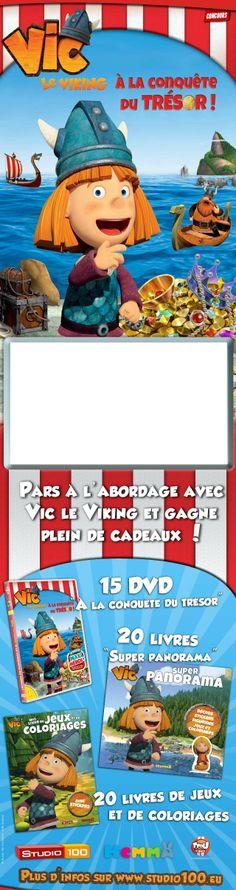 Jeu concours : Gagne des DVD et des livres de Vic le Viking ! Vic Le Viking, Coups, The Vikings, Pageants, Livres