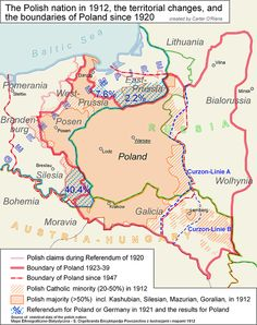 "Poland map - these changes of Poland's borders are an effect of betrayal of USA and England, during talks with ""Uncle Joe""=Stalin Murderer of Nations European History, World History, Family History, Modern History, Poland Map, Poland History, Jewish History, Alternate History, Family Genealogy"