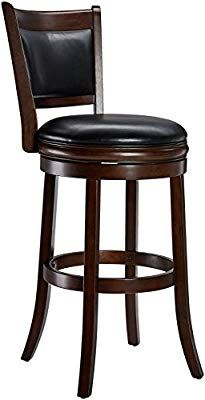 Ball Cast Jayden Wooden Swivel Bar Stool With Faux Leather