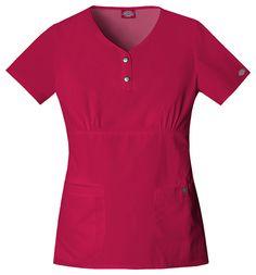 Dickies Scrubs Women's Gen Flex Contrast Stitch Shirt Cheap Scrubs, Cute Scrubs, Toms Sneakers, Scrubs Uniform, Stitch Shirt, Top Stitching, Workout Tops, Short Sleeve Dresses, Couture