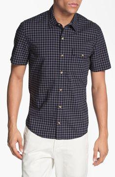 1901 Plaid Short Sleeve Woven Shirt | Nordstrom