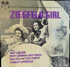 "ZIEGFELD GIRL 12"" VINYL LP MINT ORIGINAL 1941 SOUNDTRACK 1970S RELEASE, JUDY GARLAND, TONY MARTIN"