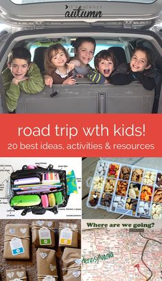 Road Trip coming up? Check out this post for links to the very best activities, snacks, and tips for road trips with kids - find hundreds of ideas all in one place! Road Trip With Kids, Family Road Trips, Travel With Kids, Family Travel, Travel Snacks Kids, Best Vacations With Kids, Family Getaways, Family Vacations, Road Trip Activities