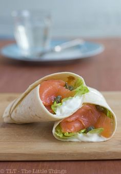 smoked salmon and cream cheese wraps. a 10-year-old craving that i was never able to satisfy. salmon melting in your mouth is the bomb.
