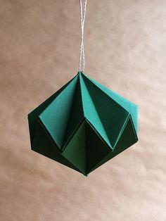 Origami+Deko-Kugeln+grün,+6er+Set!+von+Faltblatt+auf+DaWanda.com