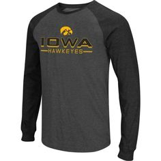 Colosseum Men's Iowa Hawkeyes Grey Olympus II Long Sleeve Shirt, Size: Medium, Team
