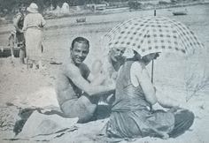 Rudolph Valentino in the Beach