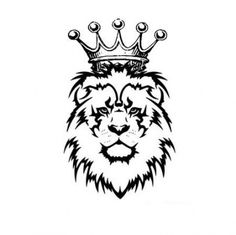 lion with crown tattoo Lion Tattoo With Crown, Crown Tattoo Men, Crown Tattoo Design, Simple Lion Tattoo, Tribal Lion Tattoo, Tribal Tattoo Designs, Tattoo Designs For Women, Tribal Art Tattoos, Corona Tattoo