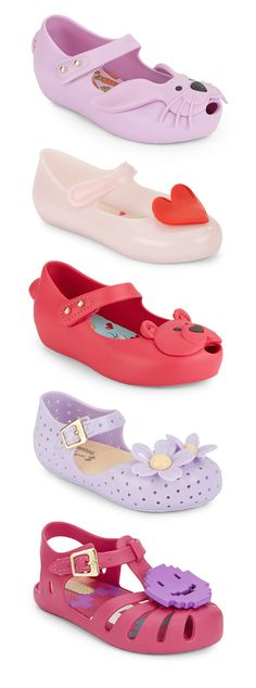 9b7310acf3ecf  MiniMelissa sandals are spring musts.  Girls  Shoes Melissa Jelly Shoes