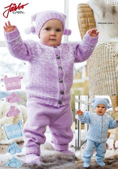 Warming baby set with a lovely hat.