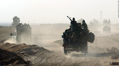 Kurdish Peshmerga forces are within five miles of Mosul after days of sweeping territorial gains in the operation to free the key Iraqi city from ISIS control Prison, Sheikh Abdullah, Press Tv, Interesting Reads, S Man, Military Vehicles, Battle, Photo And Video, Rage
