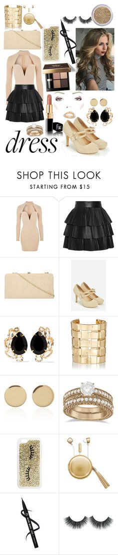 """Choker dress"" by cheyxoxkira ❤ liked on Polyvore featuring Rare London, Balmain, Dorothy Perkins, JustFab, Bobbi Brown Cosmetics, Bounkit, Aurélie Bidermann, Magdalena Frackowiak, Allurez and Miss Selfridge"