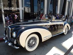 1953 Delahaye type 178 cabriolet, body design by Henri Chapron